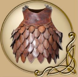 LARP Hektor leather scale torso